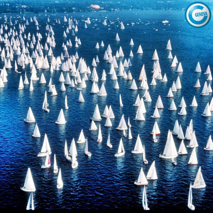 Bol d'Or Geneva sailing compétition this weekend.