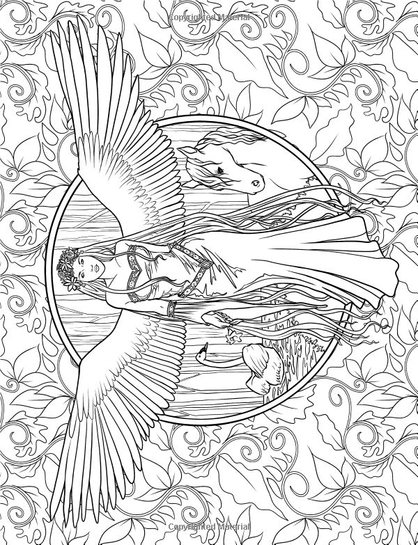 find this pin and more on color pages fairies angels mermaids - Coloring Or Colouring