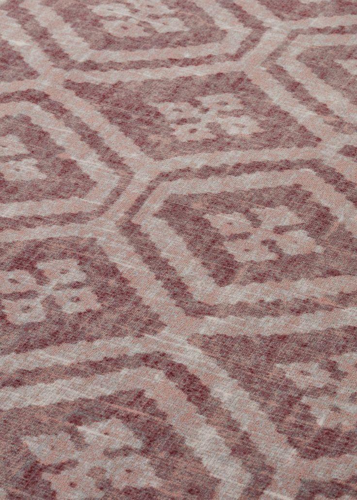 Desso & Ex unique home flooring concept in diamond pattern – colour Bohemian Red.