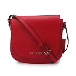 Cheap Michael Kors Hayes Messenger Small Red Crossbody Bags Clearance