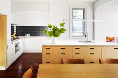 Plywood Kitchen  South Terrace Additions  Philip Stejskal Architecture Fremantle Architect