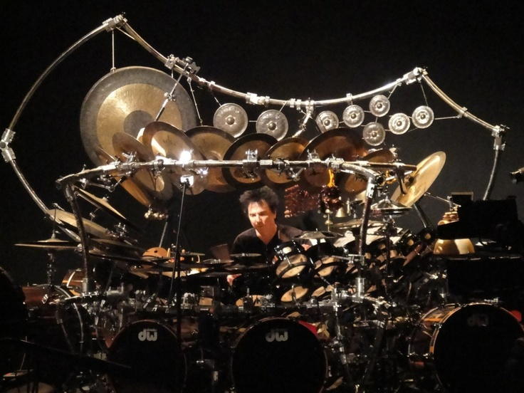 Terry Bozzio and his monster drum set