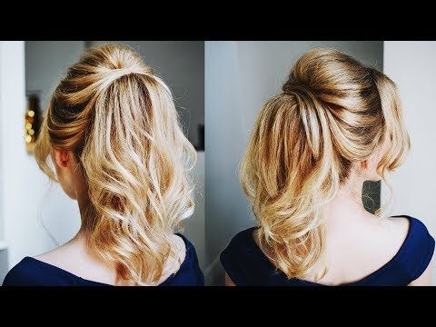 How to create big volume with thin hair in a ponytail – YouTube
