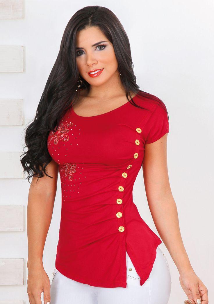 Resultado de imagen para blusas rojas de moda juveniles