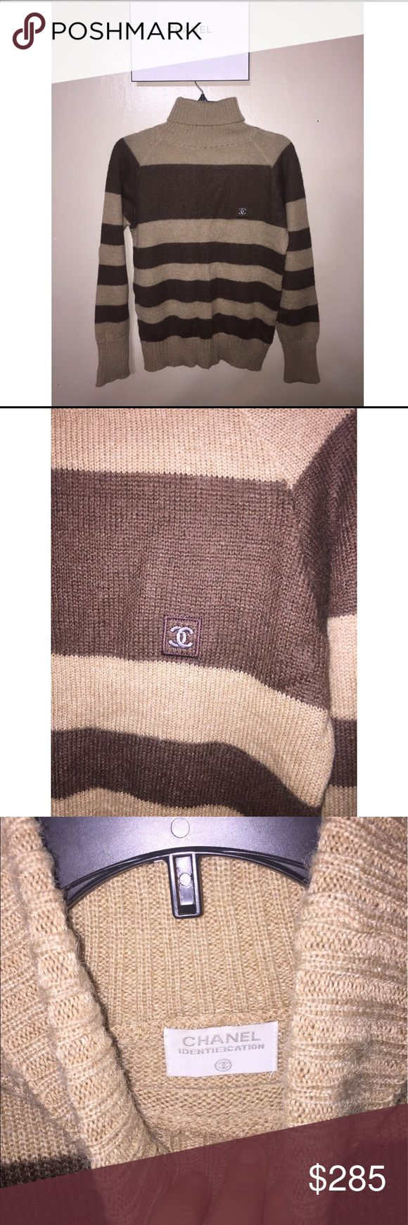 100% Authentic Chanel sweater fits Sz.S/M Like New! Purchased a few Years ago in a high end consignment store still had tags! Tags said $700+ Used 2 times! CHANEL Sweaters Cowl & Turtlenecks