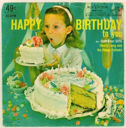 Vintage Happy Birthday Record Album