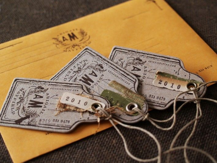 Wonderful vintage styled modern labels