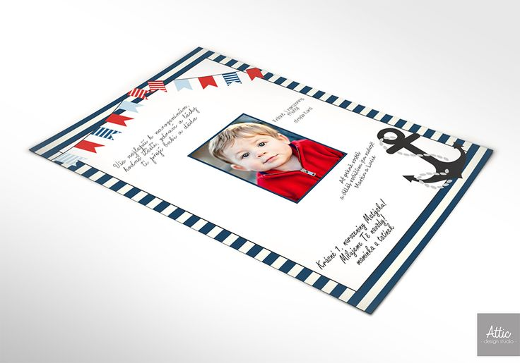 Námořnický - plakát na podpisy a přání Narozeninový plakát s námořnickým motivem na podpisy a přání od gratulantů. Krásná památkana oslavu 1. narozenin. Obrázek je pak možné vložit do rámu a vystavit v dětském pokojíčku. Možnost dokoupit také další propriety v setu - pozvánky, girlanda, zápichy apod. Změna barev dle domluvy. Možnost návrhu na míru. první ...