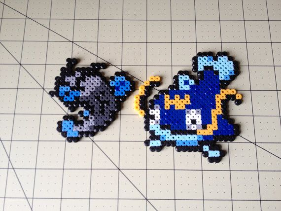 Pokemon Bead Sprite Set  Barboach Family by ToughTurtles on Etsy, $5.50