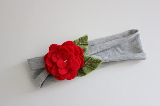 Some really super cute girls felt flower embellishments for headbands.