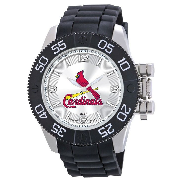 Men's MLB Game Time St. Louis Cardinals Beast Series Watch - Black, St Louis Cardinals