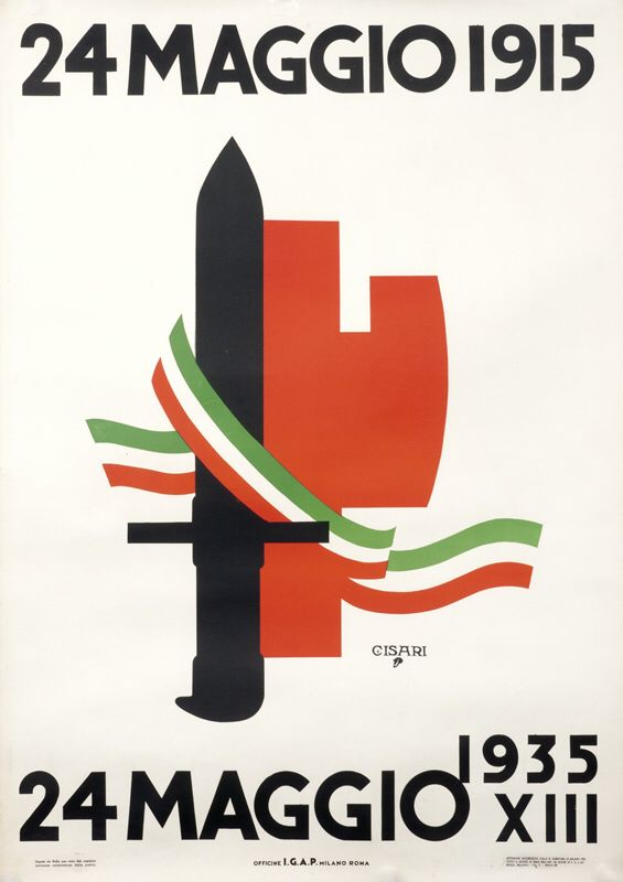 Fascist era poster.