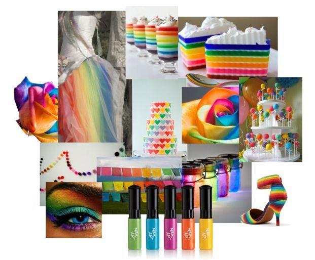 bruiloft thema regenboog