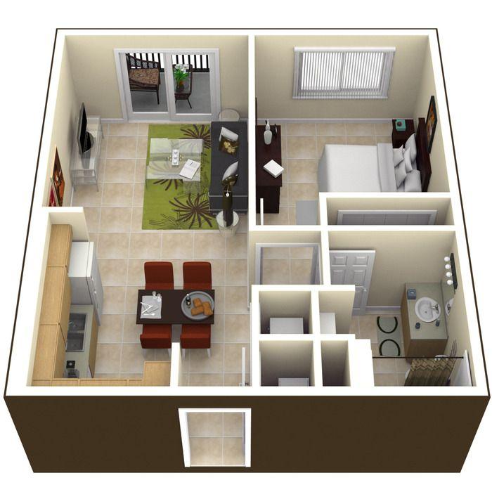 Planta de casa com desenho 3D Projetos para experimentar Pinterest - maison en 3d gratuit
