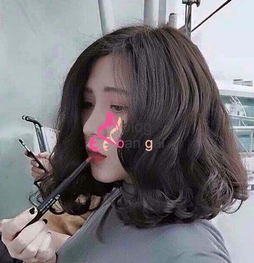 5 kiểu tóc ngắn ngang vai uốn xoăn đẹp cho khuôn mặt nhỏ gầy 2017 phần 2