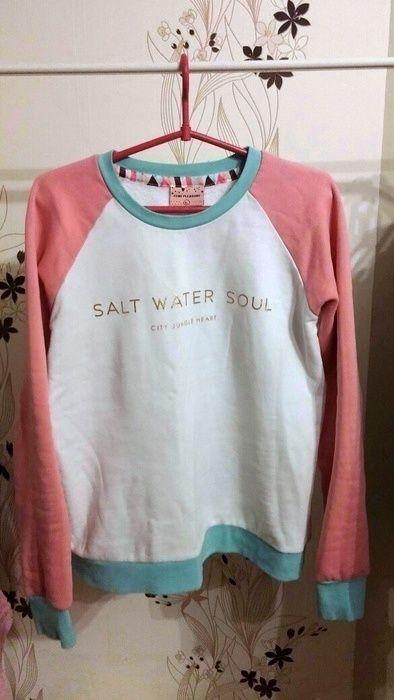 bluza femi pleasure rozm L rożowo biała