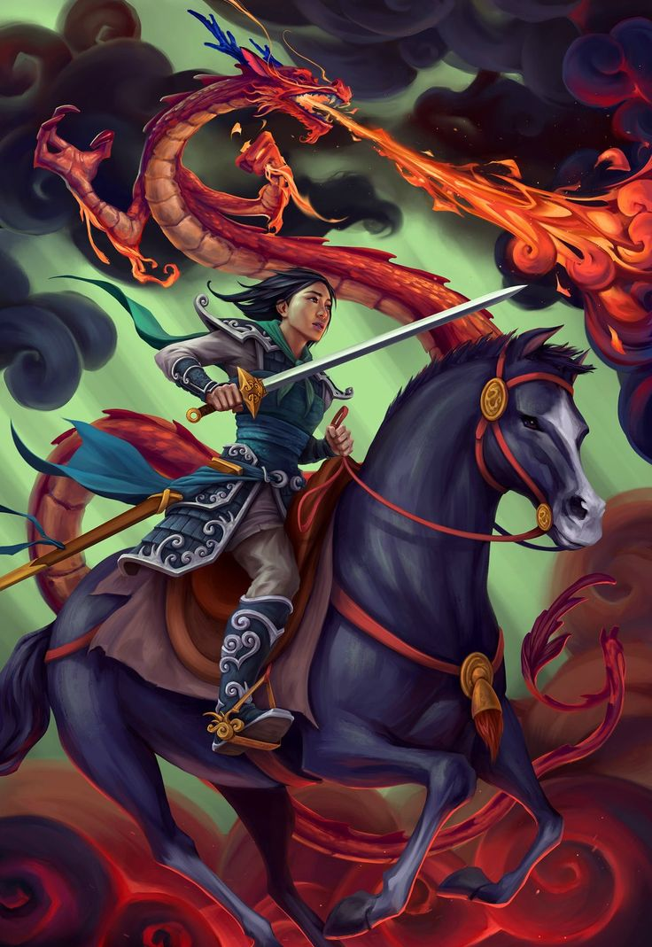 Fightin' for her daddy… :') Happy Father's Day, y'all! MULAN, by Aaron Lovett.
