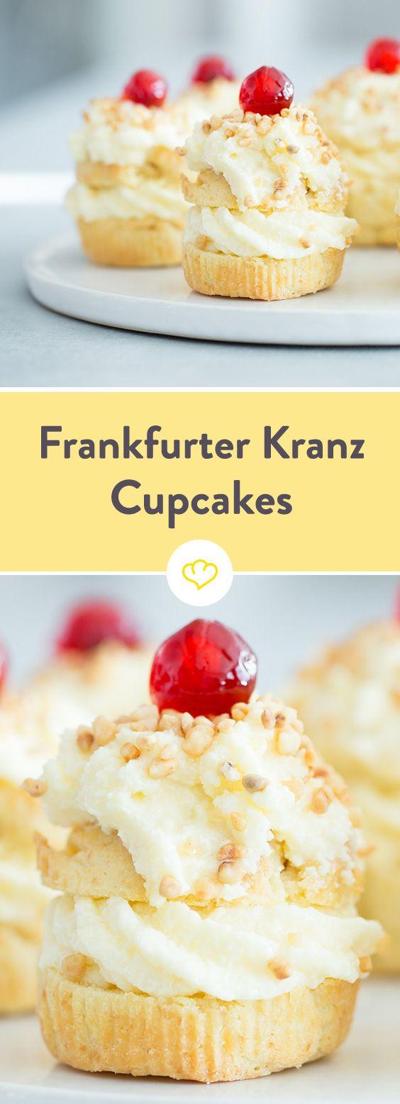 Klassiker neu aufgelegt: Cupcakes à la Frankfurter Kranz