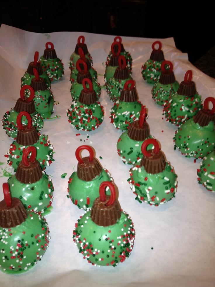 Christmas Cake Pop Ideas Pinterest : Christmas Ornament Cake Pops CHRISTmas Pinterest