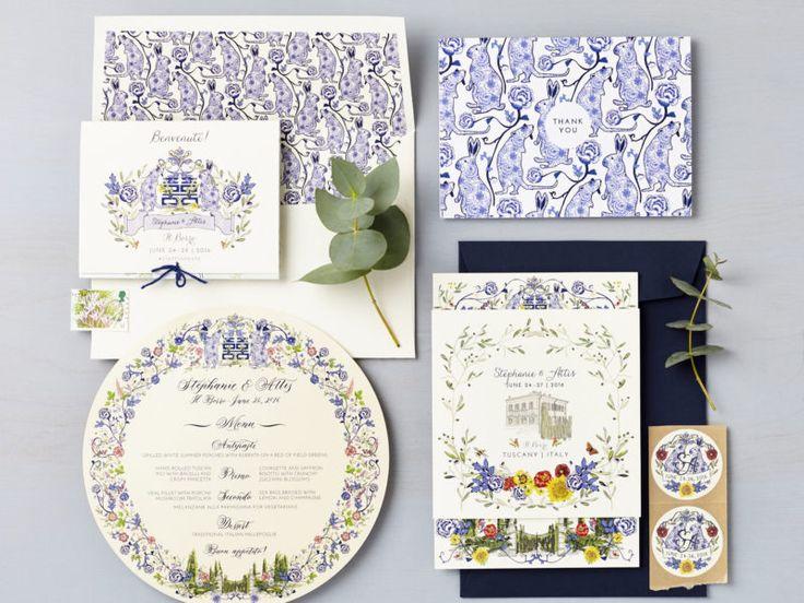 LSID bespoke wedding invitation steph and attis tuscany italy