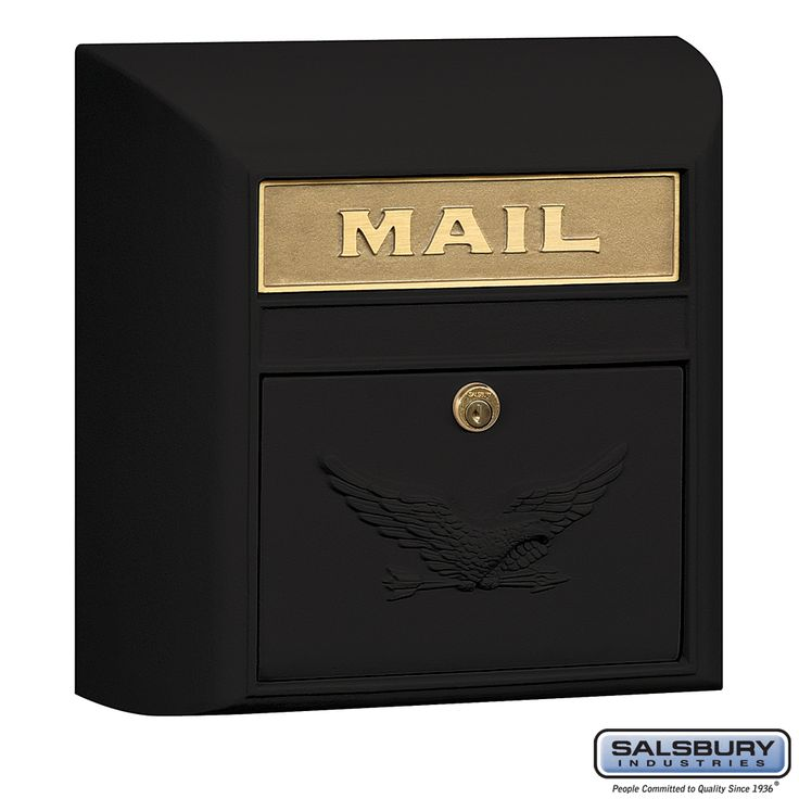 Salsbury Industries   4150E-BLK Modern Mailbox Black Eagle Tenant Door   Residential Mailbox