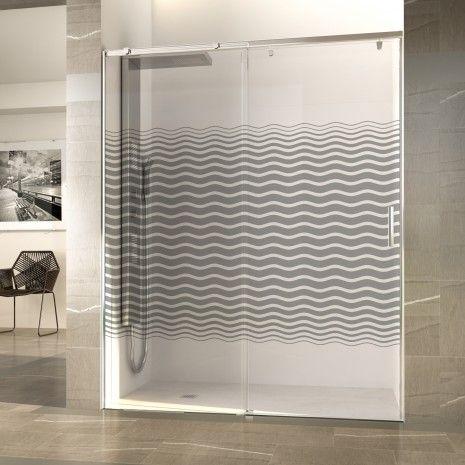 En oferta mamparas te proponemos series decorativas para for Mamparas de vidrio templado para banos