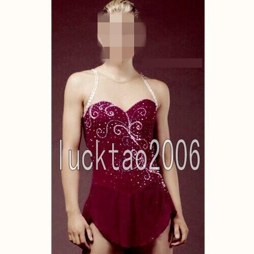 Girl Figure Skating Dress Ice Skating Competition Costume Sparkle Brand 8842-1 | Sporting Goods, Winter Sports, Ice Skating | eBay!