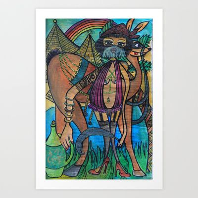 Bellydancer Art Print by Valerie Parisius - $17.00 www.valerieparisius.com