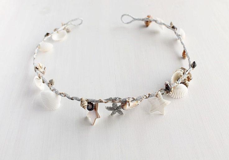 Beach Bridal Crown, Seashell Tiara, Mermaid Head Piece, Beach Hair Accessory, Beach Bridal Halo, Destination Wedding Crown, Sea Shell Wreath by HandyCraftTS on Etsy https://www.etsy.com/listing/234750724/beach-bridal-crown-seashell-tiara