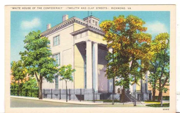 Undated Unused Postcard White House Of The Confederacy