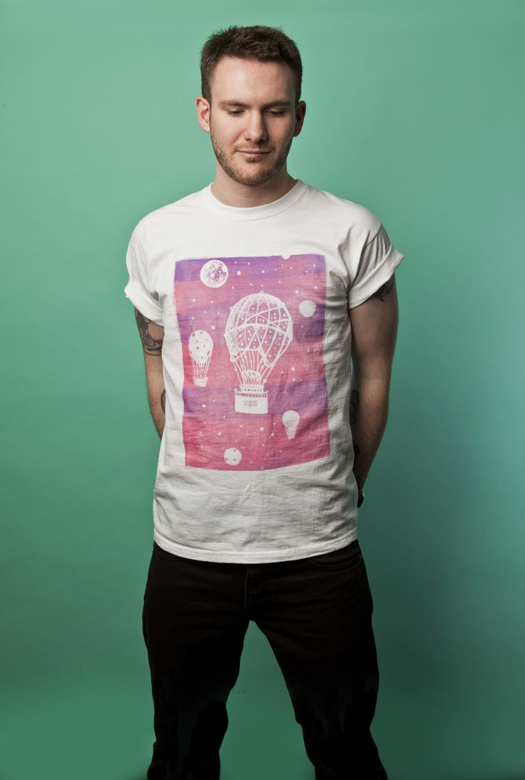 "Bespoke ""Hot Air Balloon"" T-shirt. Available to purchase at www.luciadeluca.com"