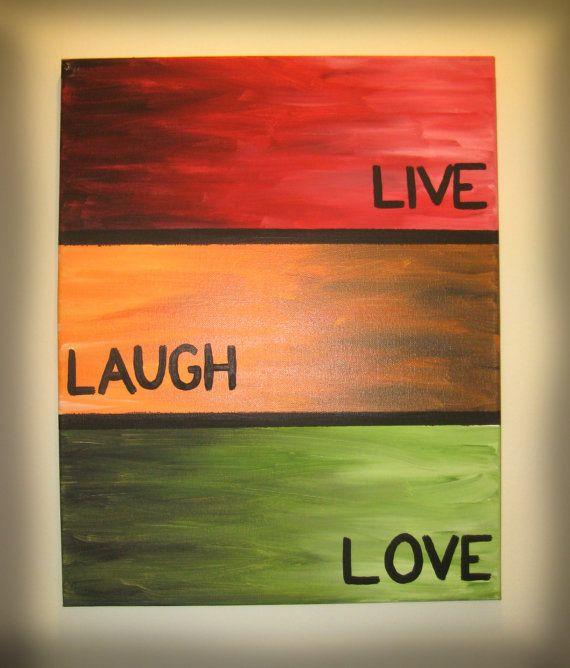 Painting  Live Laugh Love by BringingSunshine on Etsy, $25.00
