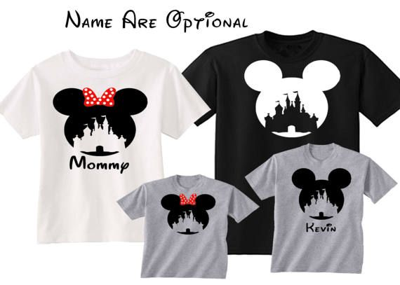 Disney camisetas camisa de familia Disney personalizada