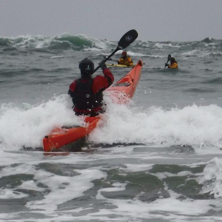 Kayak Surfing, Tofino, BC
