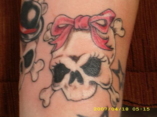 Girl Skull – Tattoo Picture at CheckoutMyInk.com