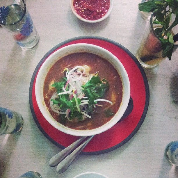 """""""Assam Laksa - did you know it's made with mackarel stock?"""" by @Christy Loekito at #Laksasmackdown Orient East - Melbourne, Australia"""