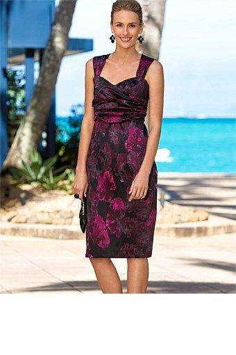 Dresses - Grace Hill Printed Satin Dress