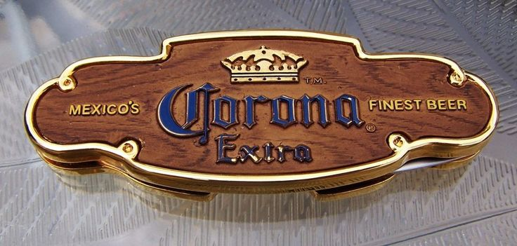 Franklin Mint Collector Mexico's Corona Finest Beer Stainless Pocket Knife NIP #FranklinMint