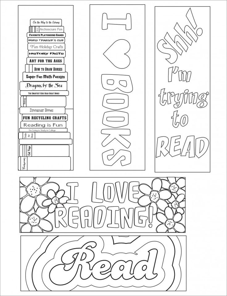 Blank Bookmark Template, Bookmark Template