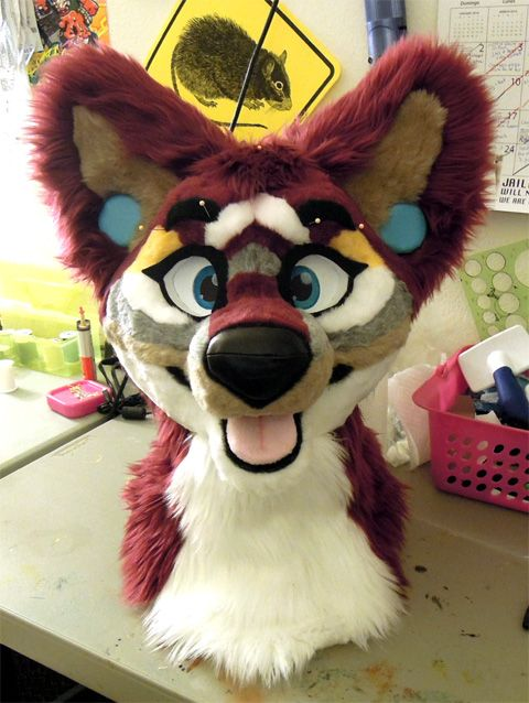My fursuit head made by Kilcodo Costumes :) Just has a few more things, then all that's left is the body suit!