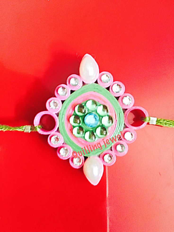 Quilling Rakhi by SiriQuilling on Etsy