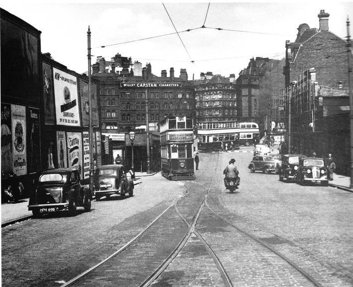 Tram in Navigation Street,Birmingham
