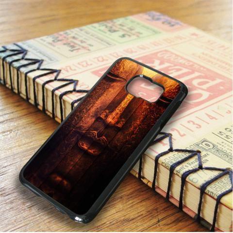 Budha Face Art In Wood Samsung Galaxy S6 Edge Plus Case
