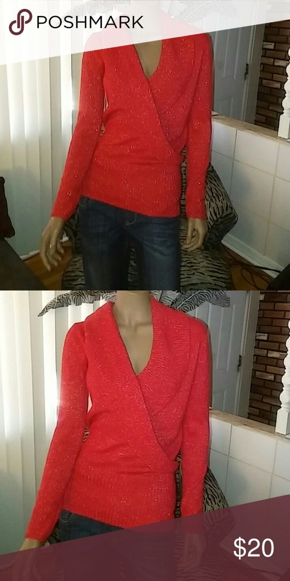 Red sweater with silver flakes Cute red sweater with silver flakes Sofia varga Sweaters Crew & Scoop Necks