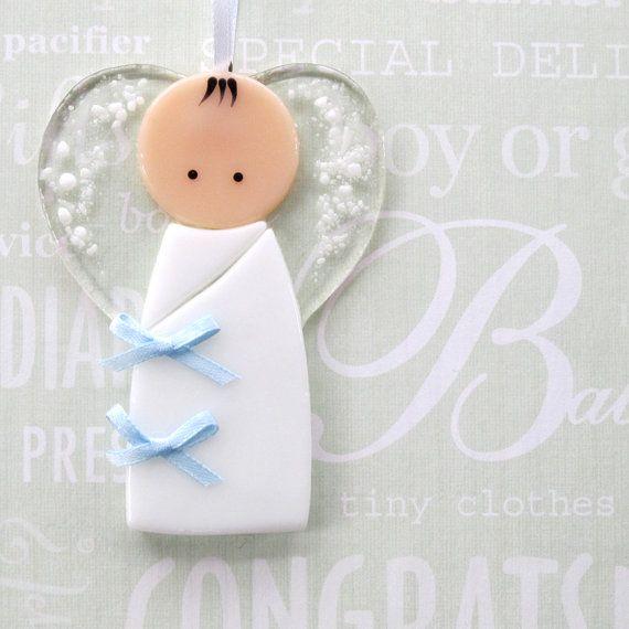 002  Baby boy ornament decoration guardian by nivenglassoriginals, #CGGE