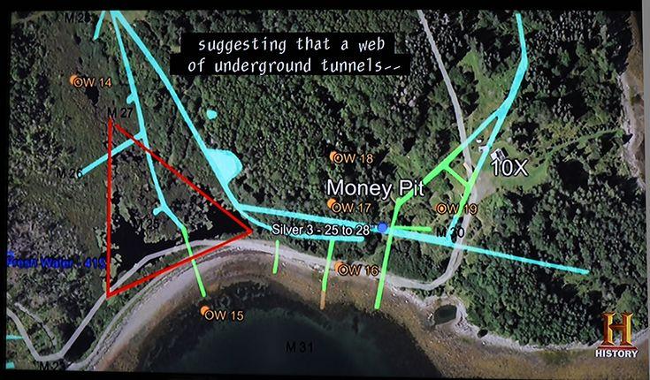 Updated Satellite Map Oak Island Nova Scotia