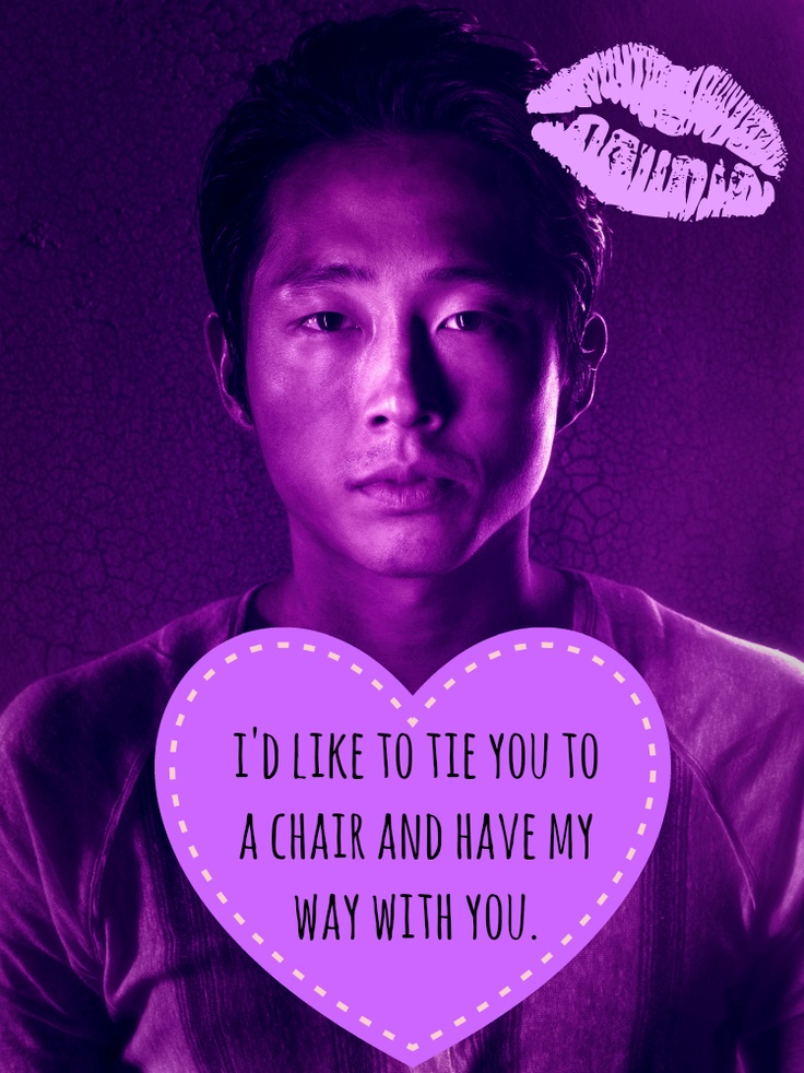Glenn, The Walking Dead, Valentine. For Steph ;
