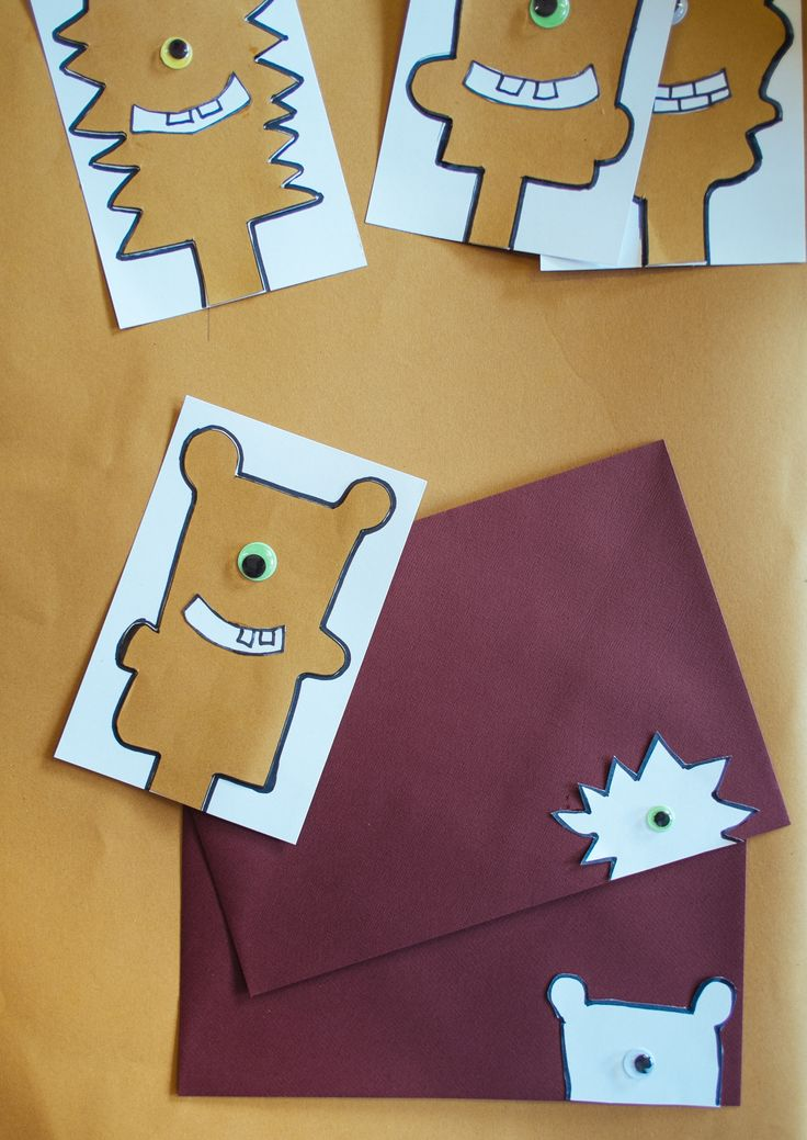 DIY: monster uitnodigingen kinderfeestje- DIY party invitations- monsters- http://www.galerie-lucie.nl/