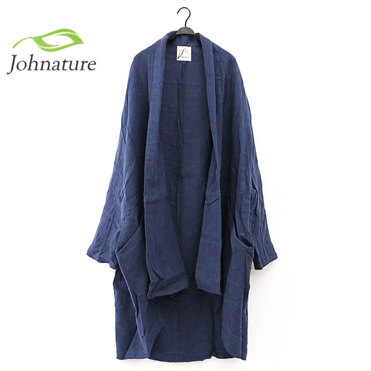 cotton linen The woman retro high-end washing linen cape type vertical texture thick pure leisure coat plus size | #WomenTrench