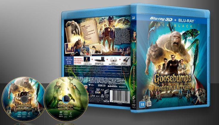 Goosebumps - Monstros E Arrepios - Blu-ray 3D E 2D (02 Discos) - Capa   VITRINE - Galeria De Capas - Designer Covers Custom   Capas & Labels Customizados